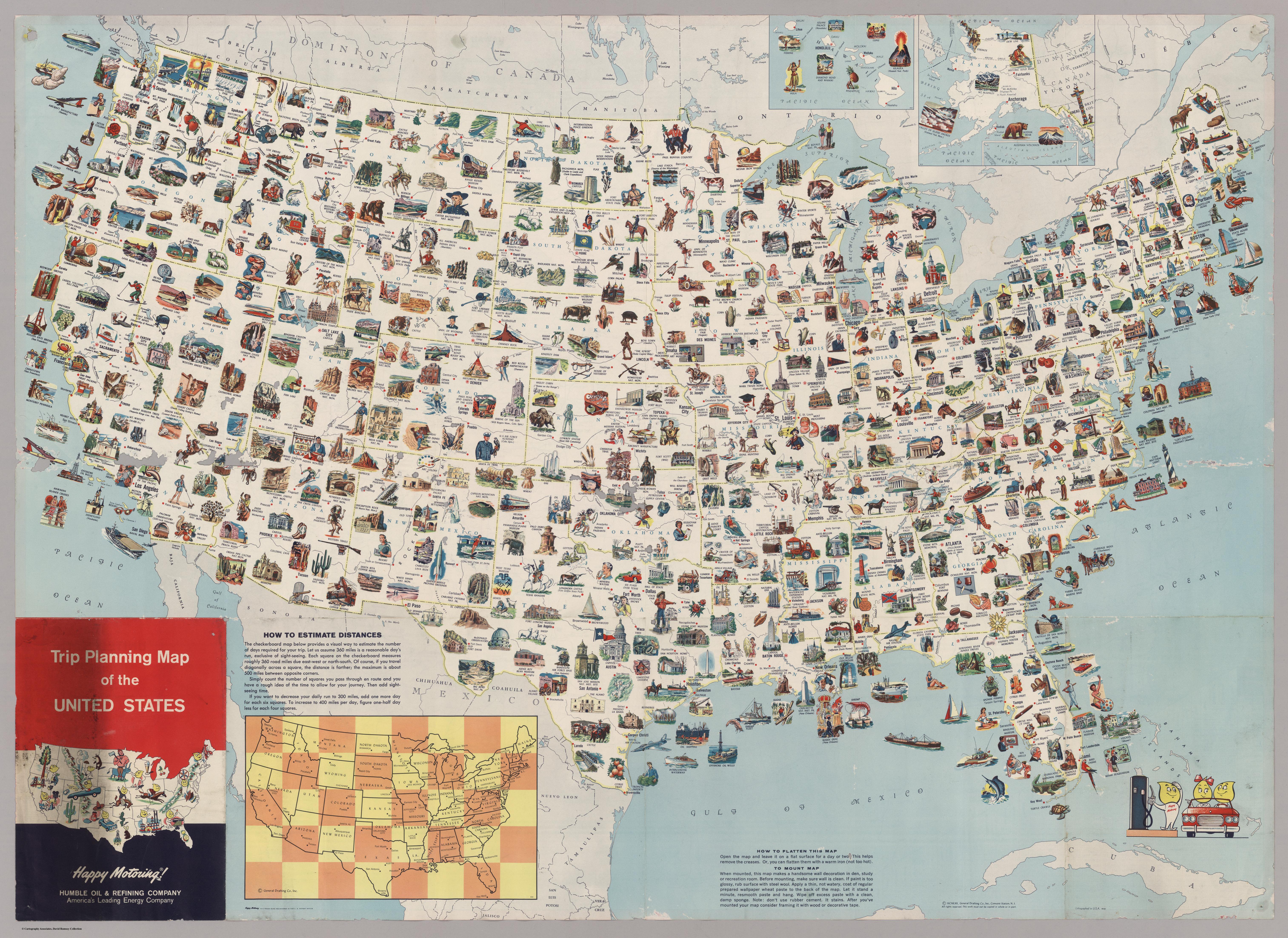 туристическая карта америки