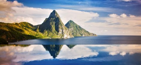 The-Pitons-From-Jade-Mountain SAINT LUCIA